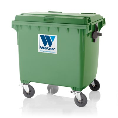Mobile Waste Containers Mgb 1100 Litre Flat Lid Classic