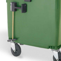 mobile waste containers 1100 L FL LIL central brake