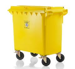 Mobile garbage bins for clinical waste 770 l