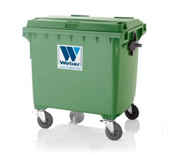 Mobile waste container 1100 l flat lid CLASSIC