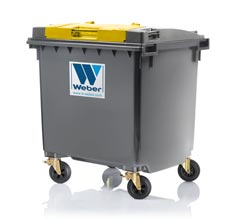 Mobile waste container 1100 l, flat lid LiL