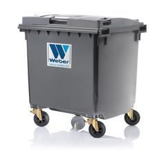 Mobile waste container 1100 l, flat lid