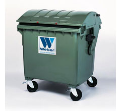 Mobile waste container MGB 1100 litre round lid