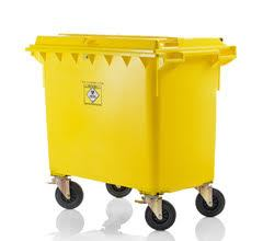 Mobile waste container for clinical waste MGB 660 litre