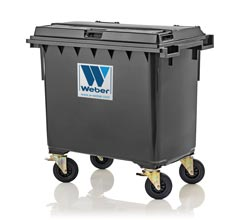 Mobile waste container MGB 660 litre
