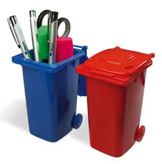 Plastic miniature MINI-Wheelie bins