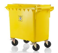 Wheelie bin for clinical waste 1100 l